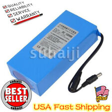 Portable DC 12V 20000mAh Li-ion Super Rechargeable Battery Pack w/ US Plug USA