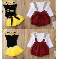 Baby Girls Clothes Romper Tutu Skirt Infant Birthday Party Dress Outfit Jumpsuit