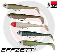 Weedless KICK S Minnow DAM Effzett Bass Lure Fishing Paddle Tail Soft Plastic