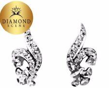 ESTATE ANTIQUE EARRING ROUND BAGUETTE DIAMOND EARRING