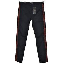 MAISON SCOTCH Pantalon Slim Black Skinny Jeans Stretch 31x32 Embroidered Soda