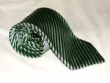 MEN'S GIEVES & HAWKES SAVILE ROW LONDON HAND MADE STRIPED NECK SIK TIE