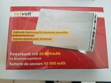 revolt Powerbank mit 45.000 mAh für Notebook & Co., im Aluminiumgehäuse