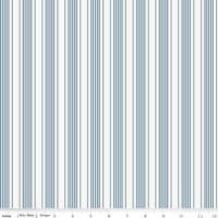 By the Sea Blue & White Stripe Riley Blake Fabric FQ or More 100% Cotton Craft