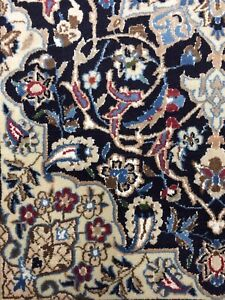 Used Old Handmade Na en Vintage Small Wool Rug Carpet Chic Size:4.4 FtBy 2.11 Ft