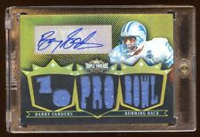 BARRY SANDERS 2007 TOPPS GOLD AUTO #D 9/9 HOF 9 PIECE GAME JERSEY LIONS LEGEND !