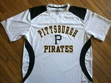 PITTSBURGH PIRATES JERSEY White Performance Shirt Baseball Licensed Stitches LG