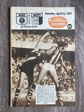 1977 VFL AFL football record Carlton Blues V St Kilda Saints April 16 1977