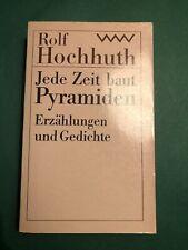 Jede Zeit baut Pyramiden. Erzählungen und Gedichte. Herausgegeben von Dietrich S