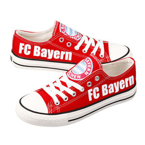 FC Bayern Football Team Canvas Red Shoes Sneakers Lace Up Men Women Hoodie Mask