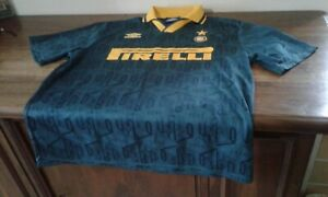 MAGLIA SHIRT VINTAGE UMBRO FOOTBALL CALCIO INTER MILANO VERDE GREEN L
