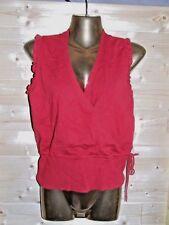 superbe haut / top / blouse rouge ETAM taille L soit 40 / 42 parfait état