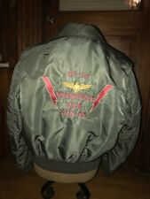 Vintage AVIREX Type A-2 Olive Drab Flight Jacket Size XL USN Enterprise VF - 114