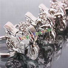 Schlüsselanhänger Motorrad Metall silber glänzend in schwarzer Geschenkbox NEU