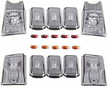 10 Pieces Clear Upper Roof Running Lights Set For 2003-2009 Hummer H2 SUV SUT