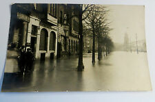 a Wonderful Early Real Photo Postcard Flood Disaster In Europe