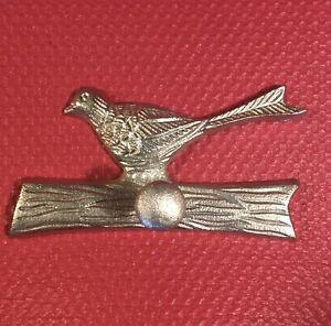 """BIRD ON BRANCH"" WALL HOOK/PEG, Cast Aluminum, 7inX3.5in-2in post, NEW."