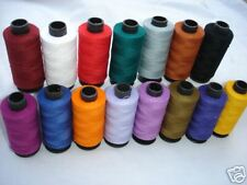 100% PURE ALL PURPOSE COTTON THREAD 15 Spools Different Colours  400 Yards each