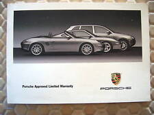 PORSCHE 911 BOXSTER CAYENNE OWNERS WARRANTY MANUAL 2003 USA EDITION