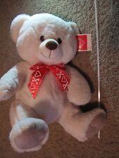 BIG White Teddy Bear Stuffed XOXO Ribbon