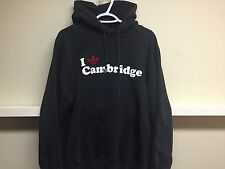 ADIDAS CAMBRIDGE UNITED FC BLACK FOOTBALL/SOCCER HOODIE SZ L MADE IN TURKEY
