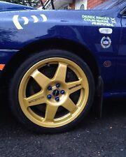 4x 100mm Prodrive Subaru Scooby Car Alloy Wheel B Pillar Sticker Vinyl Decal
