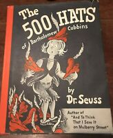The 500 Hats of Bartholomew Cubbins Dr. Seuss 1st/2nd HC/DJ RARE!