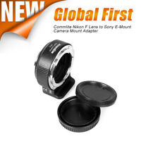 US Ship Commlite CM-ENF-E(1) Nikon F Lens to Sony E-Mount Camera Mount Adapter