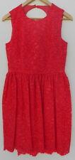 NEW Kate Spade High Low Lace Dress Geranium Red Cutout Keyhole Back 6 NWT $498