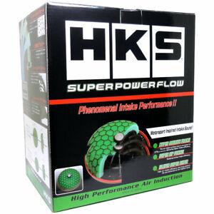 "HKS Super Power Flow 200mm Universal Air Filter - Green (100mm inlet / 4"")"