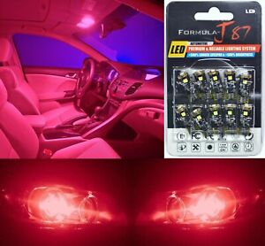 Canbus Error LED Light 194 Red Ten Bulbs Interior Map Replacement Lamp Festoon