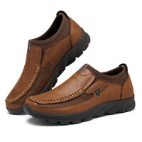 Men Leather Slip On Loafers Anti-skid Driving Moccasins Breathable Shoes Fashion