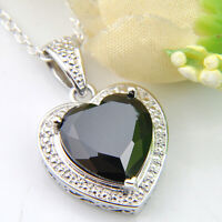Handmade Jewelry Gift Black Onyx Gemstone Silver Charming Necklace Pendants