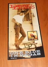 Deryl Dodd One Ride in Vegas Poster 2-Sided Flats Promo 12x24