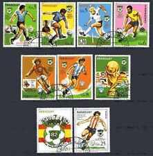 Football Paraguay (56) série complète 9 timbres oblitérés