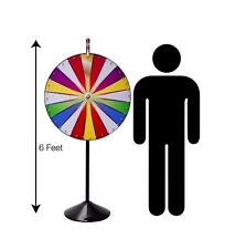 Carnival Spin to Win Prize Wheel with 6 Ft. Metal  Knockdown Pole Floor Stand