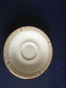 Royal Doulton White Nile saucer (very minor rim gilt wear)