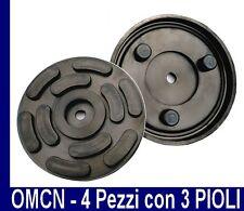 N. 4 TAMPONI GOMMA OMCN per PONTI SOLLEVATORI Diametro 140 - 3 PIOLI -MADE ITALY
