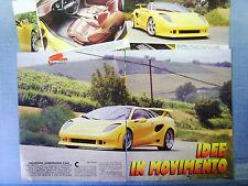 AUTO995-RITAGLIO/CLIPPING/NEWS-1995- LAMBORGHINI ITALDESIGN CALA' - 4 fogli