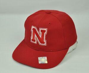 NCAA Top Of The World Nebraska Huskers Hommes Ajusté Taille 6 5/8 Rouge Plat