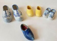 1940's 6 Dutch Shoes, Ceramic Shoes/Clogs Germany & Japan