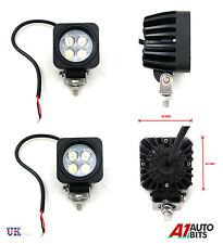 2x 12/24V Cuadrado LED Luz de trabajo lámpara de haz puntual Carretilla Elevadora Tracktor Retroexcavadora hackhoe