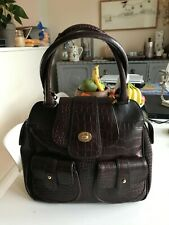 Ted Baker vintage brown faux leather croc bag Excellent Condition