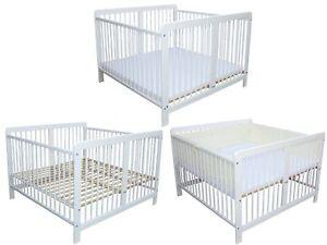 Zwillingsbett Kinderbett Bett für Zwillinge optional mit Matratzen und Nestchen