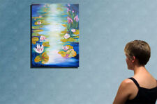 """31"""" - WATERLILIES___beautiful oil on canvas by Raluca !"""