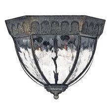 Hinkley Lighting Regal 4 Light Outdoor Flush Mount, Black Granite - 1713BG
