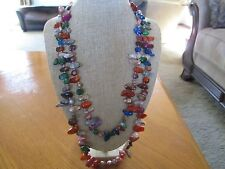 Multi Color Genuine Keshi Pearl Endless Strand Necklace 48 Inches NIP