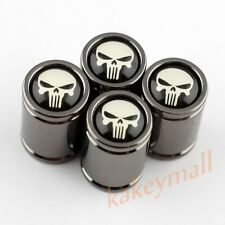 Titanium Air Dust Whee Rim Tire Tyre Valve Caps Cover Skull Head Badge Car Parts