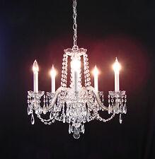 Vintage Austrian 5 Lights Crystal CHANDELIER - Exquisite!