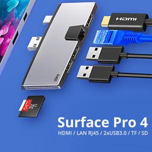 iSky for Microsoft Surface Pro4 USB Hub LAN RJ45 HDMI USB3.0 Docking Station